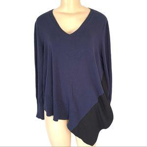 89th + Madison Asymmetrical Sweater Top Shirt